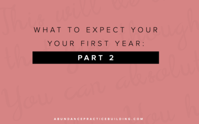 What To Expect Your First Year: Part 2