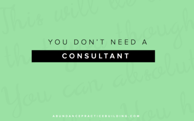 You Don't Need A Consultant