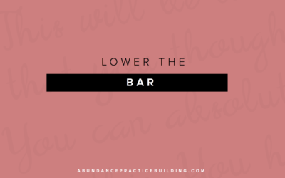 Lower The Bar