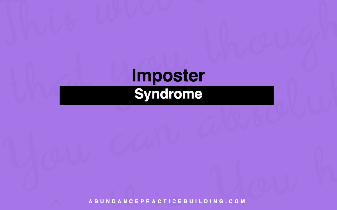 Imposter Syndrome
