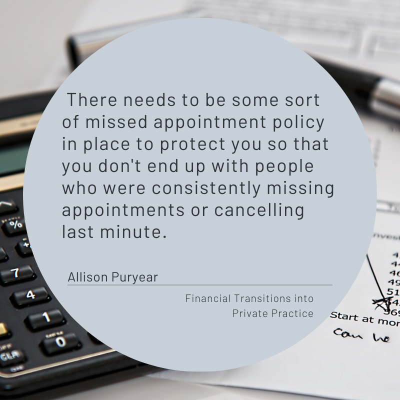 Financial Transitions from Agency to Private Practice