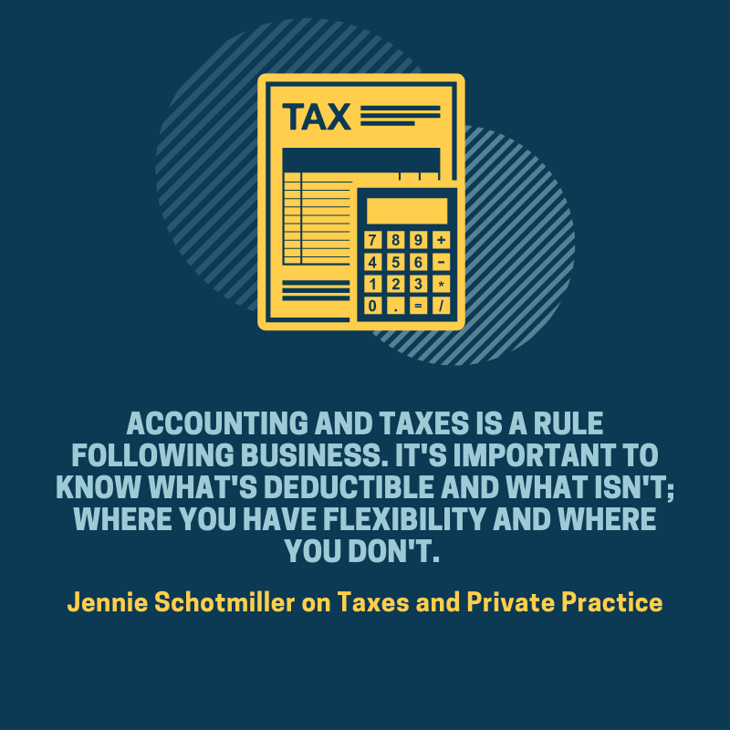 Taxes and Private Practice
