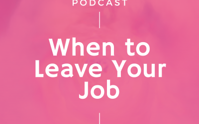 Episode #269: When to Leave Your Job
